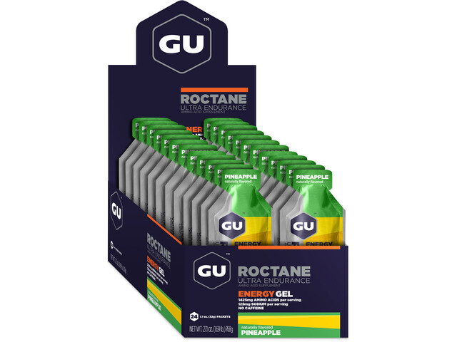 GU Energy Roctane Energy Gel Box 24x32g, Pineapple (2019) | Energy gels